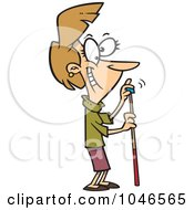 Royalty Free RF Clip Art Illustration Of A Cartoon Woman Chalking Her Cue Stick by toonaday