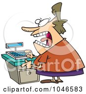 Royalty Free RF Clip Art Illustration Of A Cartoon Female Clerk