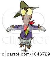 Royalty Free RF Clip Art Illustration Of A Cartoon Scarecrow
