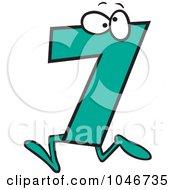 Cartoon Number Seven 7 Character