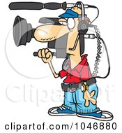 Royalty Free RF Clip Art Illustration Of A Cartoon Working Camera Man