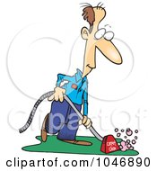 Royalty Free RF Clip Art Illustration Of A Cartoon Carpet Cleaner by toonaday