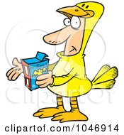 Royalty Free RF Clip Art Illustration Of A Cartoon Man In A Canary Suit by toonaday