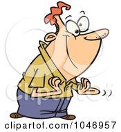 Royalty Free RF Clip Art Illustration Of A Cartoon Clapping Man