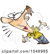 Royalty Free RF Clip Art Illustration Of A Cartoon Man Complaining