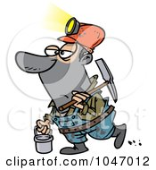 Royalty Free RF Clip Art Illustration Of A Cartoon Coal Miner by toonaday