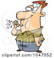 Royalty Free RF Clip Art Illustration Of A Cartoon Cougher
