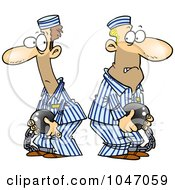 Royalty Free RF Clip Art Illustration Of Cartoon Two Convicts by toonaday