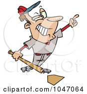 Royalty Free RF Clip Art Illustration Of A Cartoon Confident Baseball Player by toonaday