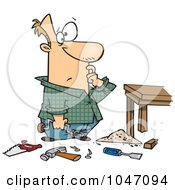 Royalty Free RF Clip Art Illustration Of A Cartoon Messy Craftsman
