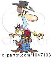 Royalty Free RF Clip Art Illustration Of A Cartoon Western Cowboy