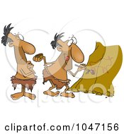 Royalty Free RF Clip Art Illustration Of A Cartoon Caveman Critic by toonaday