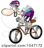 Cartoon Mountain Biker