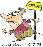 Royalty Free RF Clip Art Illustration Of A Cartoon Customer Going To Complain