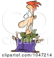 Royalty Free RF Clip Art Illustration Of A Cartoon Man Wearing Big Pants