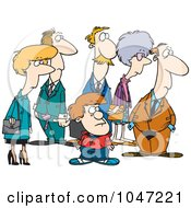 Royalty Free RF Clip Art Illustration Of A Cartoon Group Of Onlookers