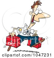 Royalty Free RF Clip Art Illustration Of A Cartoon Happy Paramedic