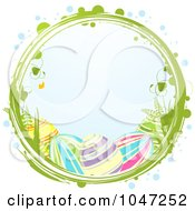 Royalty Free RF Clip Art Illustration Of Easter Eggs In A Grungy Vine Circle
