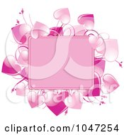 Royalty Free RF Clip Art Illustration Of A Frame Of Pink Hearts And Copyspace