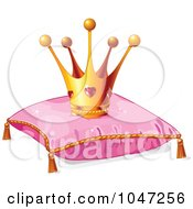 Ruby Crown On A Pink Pillow