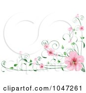 Royalty Free RF Clip Art Illustration Of A Border Of Spring Blossoms On A Vine