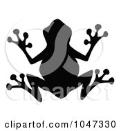 Royalty Free RF Clip Art Illustration Of A Black Frog Silhouette Logo by Hit Toon #COLLC1047330-0037