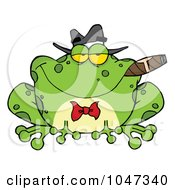 Royalty Free RF Clip Art Illustration Of A Frog Smoking A Cigar