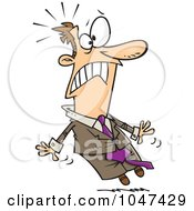 Royalty Free RF Clip Art Illustration Of A Cartoon Freaked Out Businessman
