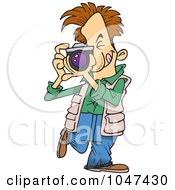 Royalty Free RF Clip Art Illustration Of A Cartoon Snappy Photographer