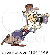 Royalty Free RF Clip Art Illustration Of A Cartoon Happy Photographer by toonaday