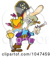Cartoon Armed Pirate
