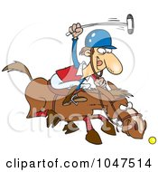 Royalty Free RF Clip Art Illustration Of A Cartoon Polo Player by toonaday