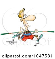 Royalty Free RF Clip Art Illustration Of A Cartoon Pole Vaulter by toonaday