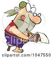 Royalty Free RF Clip Art Illustration Of A Cartoon Nerdy Pirate by toonaday