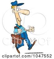 Royalty Free RF Clip Art Illustration Of A Cartoon Happy Post Man by toonaday