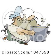 Royalty Free RF Clip Art Illustration Of A Cartoon Gross Chef