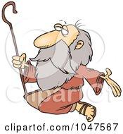 Royalty Free RF Clip Art Illustration Of A Cartoon Kneeling Prophet