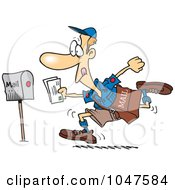 Royalty Free RF Clip Art Illustration Of A Cartoon Fast Post Man by toonaday