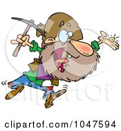 Royalty Free RF Clip Art Illustration Of A Cartoon Happy Prospector by toonaday
