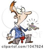 Royalty Free RF Clip Art Illustration Of A Cartoon Guy Proposing