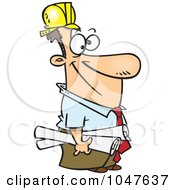 Royalty Free RF Clip Art Illustration Of A Cartoon Construction Manager by toonaday