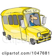 Royalty Free RF Clip Art Illustration Of A Cartoon School Bus Driver by toonaday