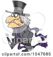 Royalty Free RF Clip Art Illustration Of A Cartoon Grouchy Guy