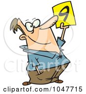 Royalty Free RF Clip Art Illustration Of A Cartoon Rating Judge
