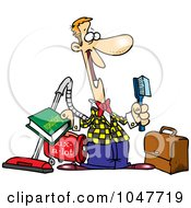 Royalty Free RF Clip Art Illustration Of A Cartoon Salesman by toonaday