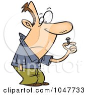 Cartoon Guy With A Loose Screw