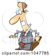 Royalty Free RF Clip Art Illustration Of A Cartoon Businessman With A Taped Mouth by toonaday