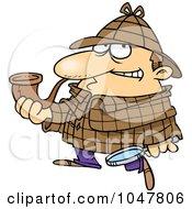 Royalty Free RF Clip Art Illustration Of A Cartoon Sherlock Holmes by toonaday