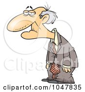 Royalty Free RF Clip Art Illustration Of A Cartoon Senior Man by toonaday