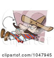 Royalty Free RF Clip Art Illustration Of A Cartoon Siesta Guy by toonaday